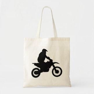 Bolsa Tote Silhueta do motocross
