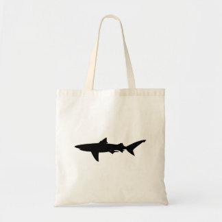 Bolsa Tote Silhueta do tubarão