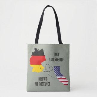 Bolsa Tote Silhueta Timo da amizade de Alemanha Califórnia