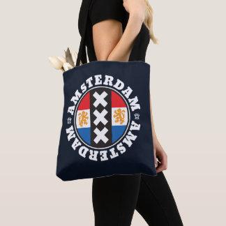 Bolsa Tote Símbolo da cidade de Amsterdão XXX com bandeira