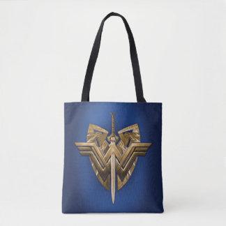 Bolsa Tote Símbolo da mulher maravilha com a espada de