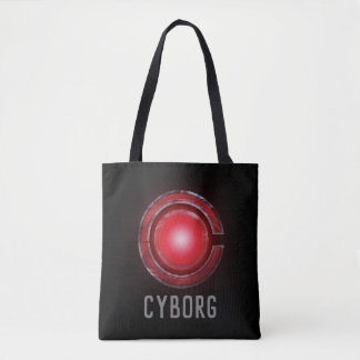 Bolsa Tote Símbolo de incandescência do Cyborg da liga de