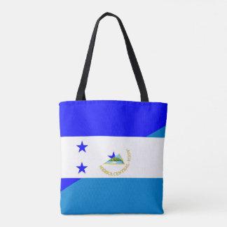 Bolsa Tote símbolo do país da bandeira de honduras Nicarágua