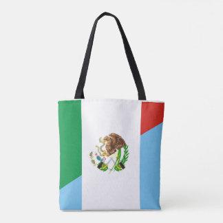 Bolsa Tote símbolo do país da bandeira de México guatemala