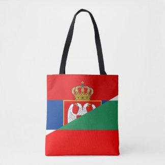 Bolsa Tote símbolo do país da bandeira de serbia Bulgária