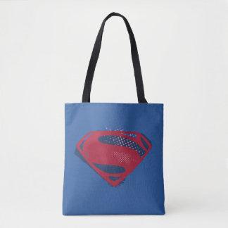 Bolsa Tote Símbolo do superman da escova & da reticulação da