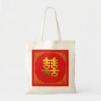 Bolsa Tote Símbolo dobro de Feng Shui da felicidade