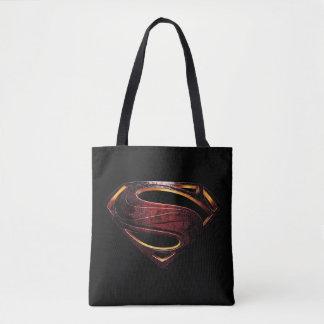 Bolsa Tote Símbolo metálico do superman da liga de justiça |