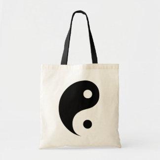 Bolsa Tote Símbolo preto e branco da taoísta de Yin Yang