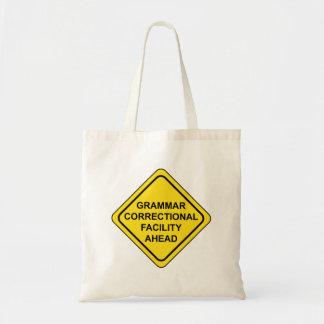 Bolsa Tote Sinal de aviso da gramática