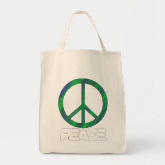 Bolsa Tote Sinal de paz com texto do esboço, sacolas
