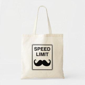 Bolsa Tote Sinal do Mustachio do limite de velocidade