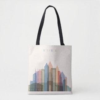 Bolsa Tote Skyline da cidade de Atlanta, Geórgia |