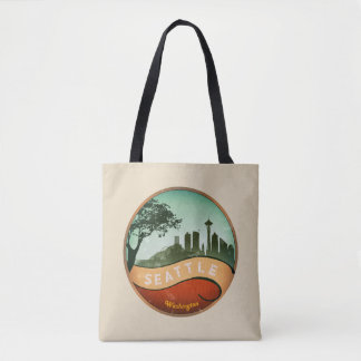 Bolsa Tote Skyline do vintage de Seattle