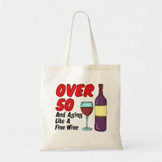 Bolsa Tote Sobre 50 que envelhecem como a sacola do vinho