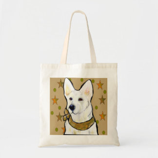 Bolsa Tote Soldado branco do german shepherd