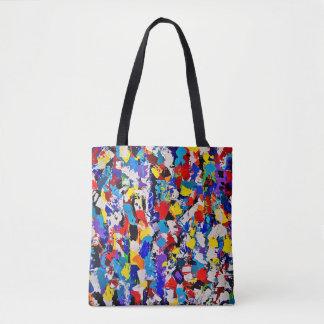 Bolsa Tote Solha colorida multicolorido da pintura do teste