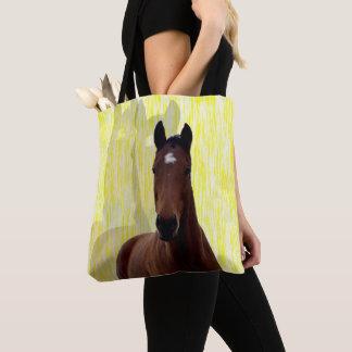 Bolsa Tote Sombras grandes do cavalo da castanha de Brown,