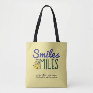 Bolsa Tote Sorrisos para a sacola das milhas