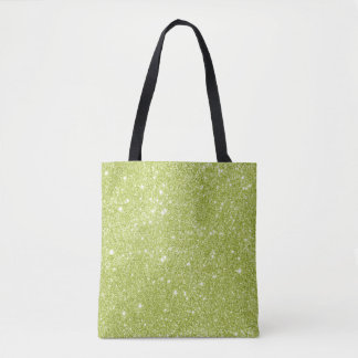 Bolsa Tote Sparkles do brilho do verde limão