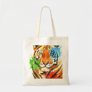 Bolsa Tote Splatter do tigre