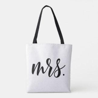 Bolsa Tote Sra. moderna Noiva Casamento por todo o lado na