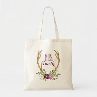 Bolsa Tote Sra. personalizada sacola de Boho
