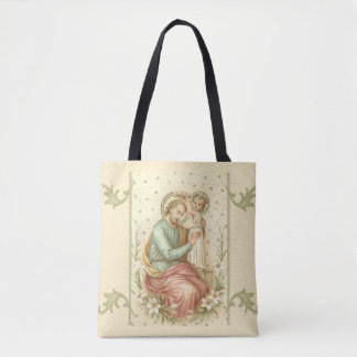 Bolsa Tote St Joseph & bebê Jesus