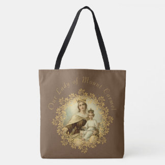 Bolsa Tote St. Therese da criança Jesus pouca flor