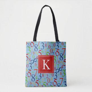 Bolsa Tote Sua matemática   colorida inicial