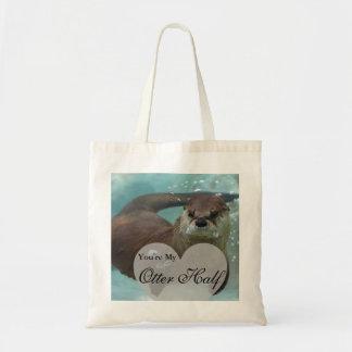 Bolsa Tote Sua minha natação da lontra de rio de Brown da