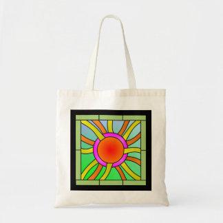 Bolsa Tote Sun com arte de Deco dos raios
