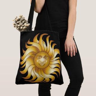 Bolsa Tote Sun de sorriso corajoso em #1 preto