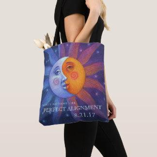 Bolsa Tote Sun e alinhamento perfeito do eclipse da lua