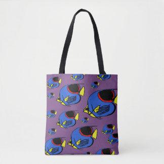 Bolsa Tote Sunfish azul, amarelo & vermelho