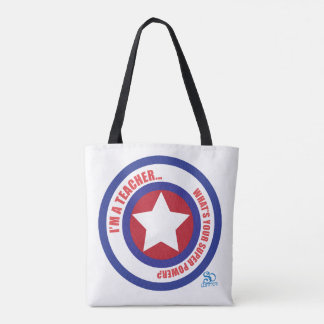 Bolsa Tote Super-herói do professor