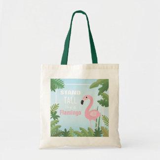 Bolsa Tote Suporte na moda alto como uma sacola do flamingo