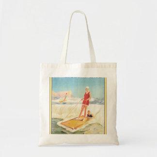 Bolsa Tote Surf que banha-se no poster das viagens vintage de