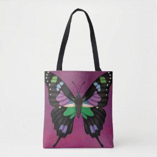 Bolsa Tote Swallowtail manchado roxo