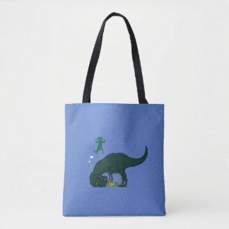 Bolsa Tote T Rex que faz um desejo