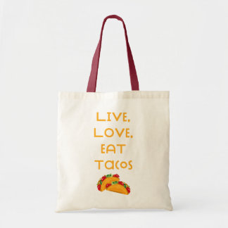 Bolsa Tote Tacos vivo V do amor