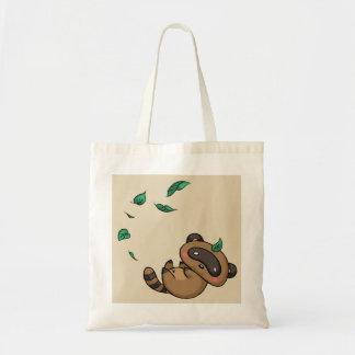 Bolsa Tote Tanuki e folhas