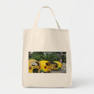 Bolsa Tote Táxis amarelos brilhantes dos Cocos do