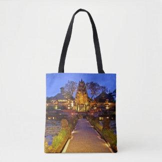 Bolsa Tote Templo Bali Indonésia de Pura Taman Saraswati