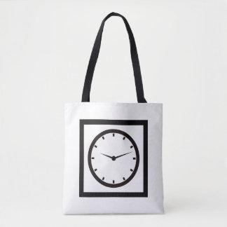 Bolsa Tote Tempo da cara cronometrado