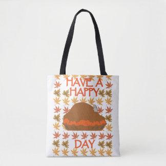 Bolsa Tote Tenha uma sacola feliz do dia de Turquia