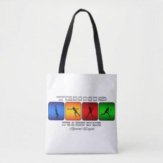 Bolsa Tote Tênis legal é um modo de vida (fêmea)