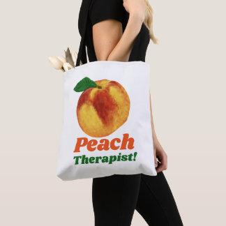 Bolsa Tote Terapeuta engraçado do pêssego
