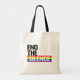 Bolsa Tote Termine o silêncio - - os direitos de LGBTQ -