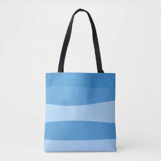 Bolsa Tote Teste padrão abstrato - azul